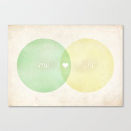 You Me Diagram Canvas Print