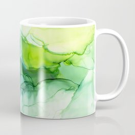 Spring Greens Abstract Landscape Coffee Mug