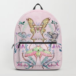 Chinese Moon Moth and Butterflies Backpack