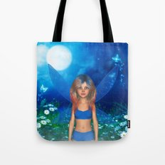 Blue Butterfly Fairy Tote Bag