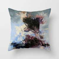 psychology Throw Pillows featuring CATHARTIC by THE USUAL DESIGNERS