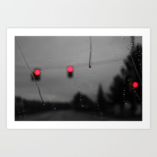 Red Lights Ahead Art Print