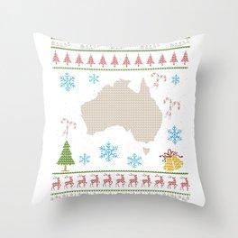 Australia Christmas Ugly Shirt Australians Throw Pillow