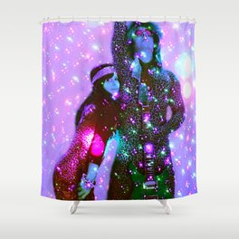Neon Rock and Roll Shower Curtain