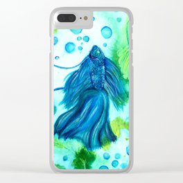 Shimmering Sea Betta Clear iPhone Case