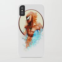 spider man iPhone & iPod Cases featuring Spider-Man by Rene Alberto