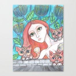 Kitty Sitter Canvas Print