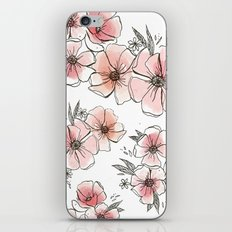 Watercolor Floral iPhone & iPod Skin