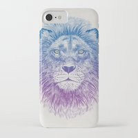 lion iPhone & iPod Cases featuring Face of a Lion by Rachel Caldwell