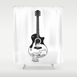The intriguing sounds of nature Shower Curtain
