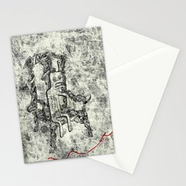 Relaxed Monster Stationery Cards