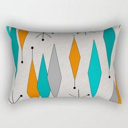 Mid-Century Modern Diamond Pattern Rectangular Pillow
