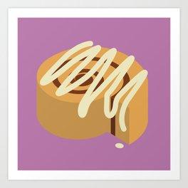 Cinnamon Bun Art Print
