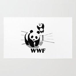 Wrestling WWF Panda Rug