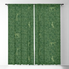 Spring Cheetah Pattern - Forest Green Blackout Curtain