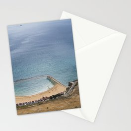 Beautiful Gibraltar rock beach view Stationery Cards