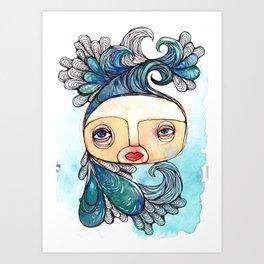 Watergirl Art Print