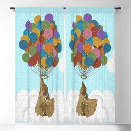 Happy Birthday Sloth Blackout Curtain