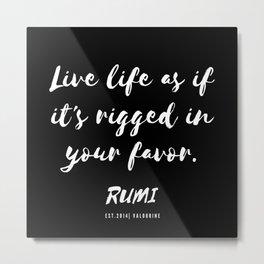 27    Rumi Quotes Good Vibes 190514 Metal Print
