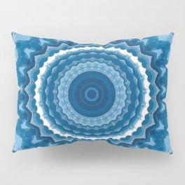 Blue mandala 2 Pillow Sham