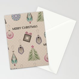 New year, Christmas design, vintage, retro,  paper craft, craft Stationery Cards