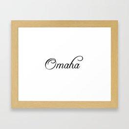 Omaha Framed Art Print