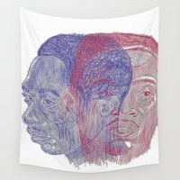tupac Wall Tapestries featuring You Got the Juice Now, Kid by Dazed N Amused