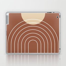 Mid Century Modern Geometric 3 (Terrocatta and beige) Laptop & iPad Skin