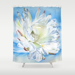 San pedro flower Shower Curtain