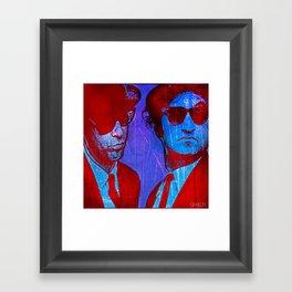 les frères bleu Framed Art Print