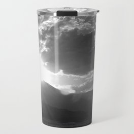 Black and White Wyoming Sunset over the Beartooth Mountains Travel Mug