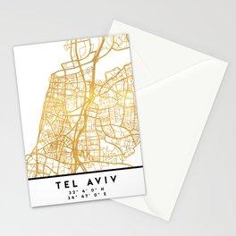 TEL AVIV ISRAEL CITY STREET MAP ART Stationery Cards