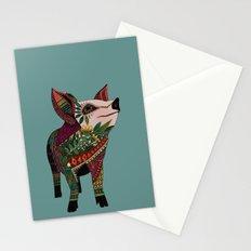 pig love jade Stationery Cards