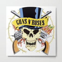 gun and rose Metal Print