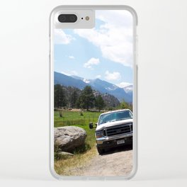 Rocky Mountains Clear iPhone Case