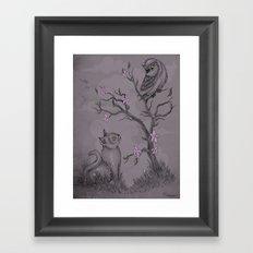 Be near me Framed Art Print