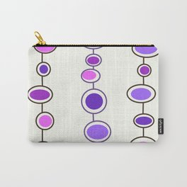 Mid Mod Bubbles in Purple Carry-All Pouch