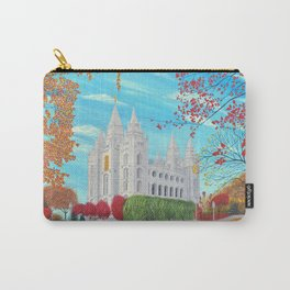 Salt Lake City, Utah LDS Temple in Autumn Carry-All Pouch