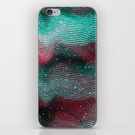 Glitch illustration background print iPhone Skin