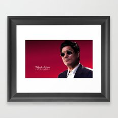 Takeshi Kitano - a filmography cover Framed Art Print