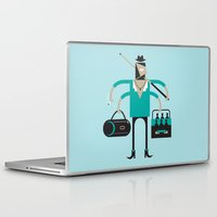indie Laptop & iPad Skins featuring Back to Indie Business by Mr Panesar, Illustration & Design