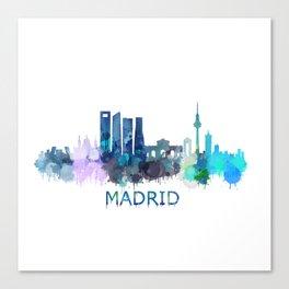 Madrid City Skyline HQ Canvas Print
