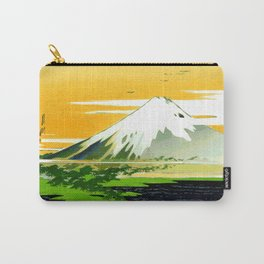 Vintage Mount Fuji Japanese Woodcut Print Carry-All Pouch