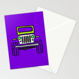 Jeep 'Drawing' PURPLE Stationery Cards
