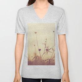 Sunset flower field  Unisex V-Neck