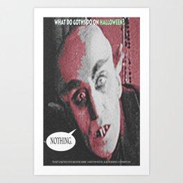 "'Count Orlock, the Vampire #3' from "" Nosferatu vs. Father Pipecock & Sister Funk (2014)"" Art Print"
