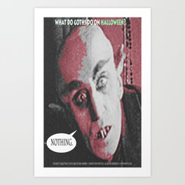 "'Count Orlock, the Vampire #3' from "" Nosferatu vs. Father Pipecock & Sister Funk (2014)"" Art Print"