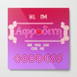 GODDESS OF LOVE - Aphrodite Metal Print