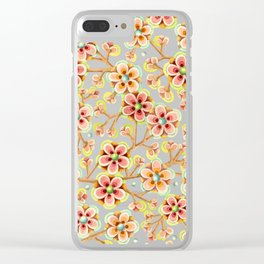 Candy Apple Blossom Aqua Clear iPhone Case