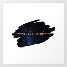To The World — Good Omens Fanart Art Print